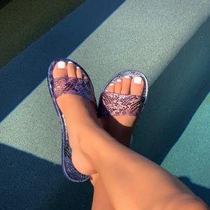 Snake Jelly Slip-on Sandals